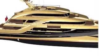 New Zealand Yachts 50m Wavepiercer - 3D Interactive Presentation