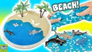 Beach Slime! DIY Summer Slime with Squishy Sea Creatures Doctor Squish