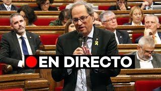 EN DIRECTO: Quim Torra comparece ante el Parlament de Catalunya