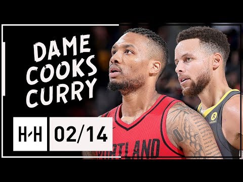 Damian Lillard COOKS Stephen Curry in PG Duel Highlights (2018.02.14) - Dame with 44 Pts!