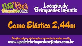 Locação de Cama Elástica 2,44m - Mauá, Santo André, SBC, SCS, ZL - UpaLêlê Brinquedos e Festas