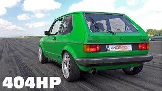 404HP Volkswagen Golf Mk1 Anti-Lag Accelerations!