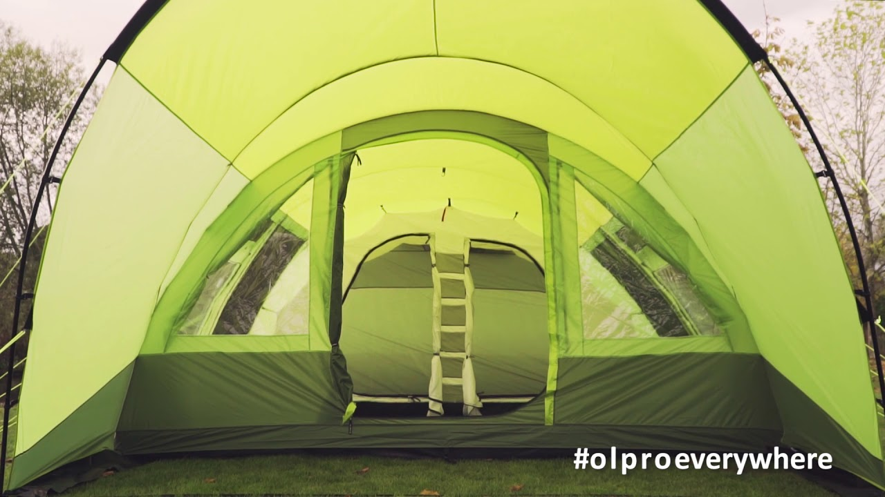 The Malvern 6 berth tent - family tent from OLPRO & The Malvern 6 berth tent - family tent from OLPRO - YouTube