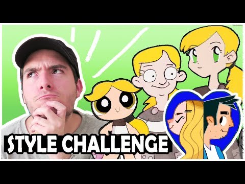 ART STYLE CHALLENGE - Drawing in CARTOON Art Styles!