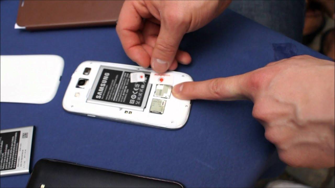 Samsung S3 Mini Sim Karte.Samsung Galaxy S3 Microsim Sim Karte