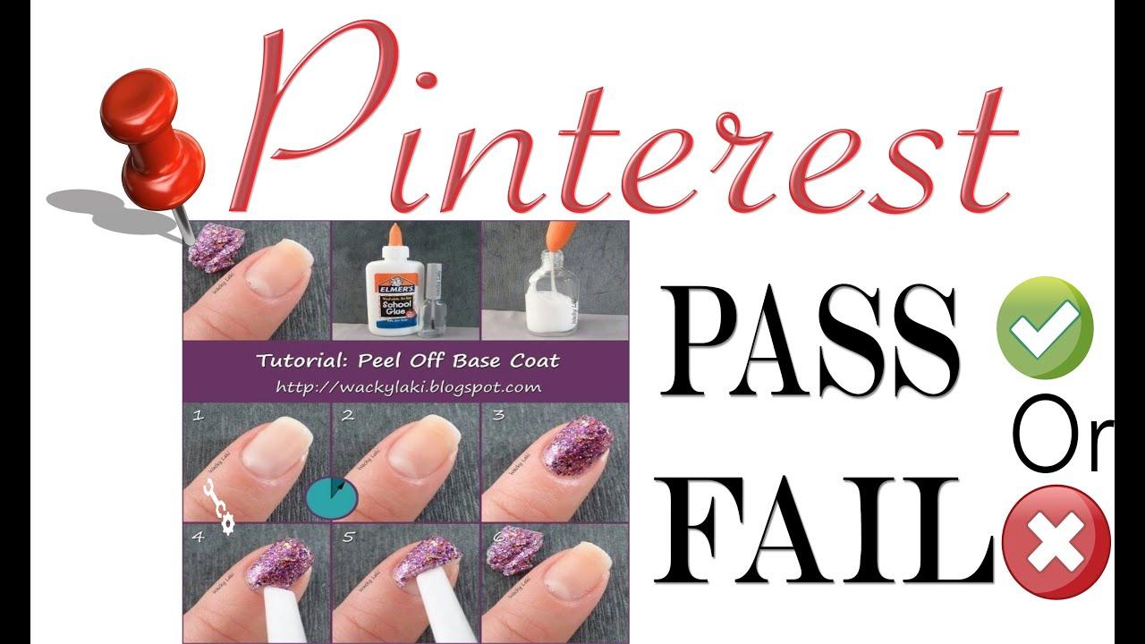 Pinterest P/F | Elmers Glue & Nail Polish - YouTube