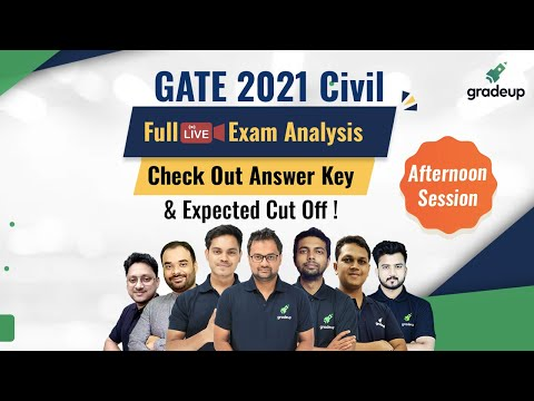 GATE 2021 Civil Full Exam Analysis & Answer Key | Live 6th Feb Shift 2 | Do not Miss! | Gradeup