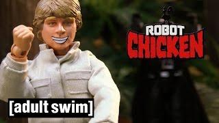 8 Classic Luke Skywalker Moments   Robot Chicken Star Wars   Adult Swim