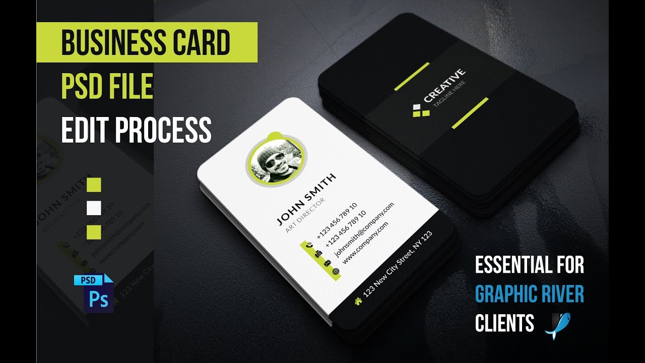 How to Edit Business Card in Adobe Photoshop PSD Files - Tutorials ...