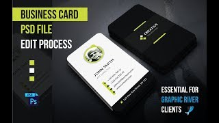 Gambar cover How to Edit Business Card PSD Files in Adobe Photoshop  - Tutorials For Graphic River Clients