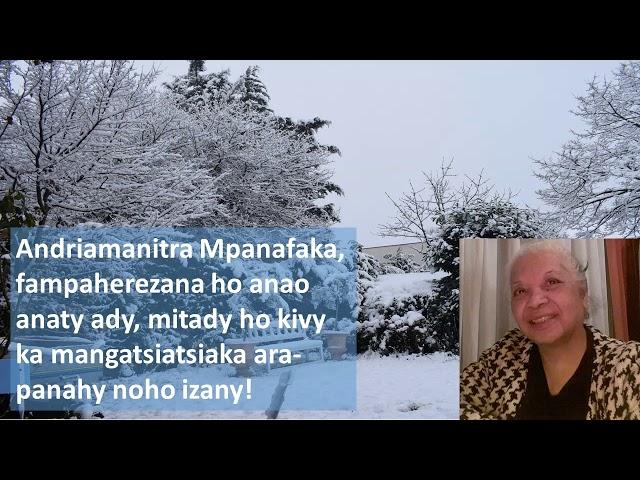 VEHIVAVY MATAHOTRA AN'I JEHOVAH FRANCE- ANDRIAMANITRA MPANAFAKA