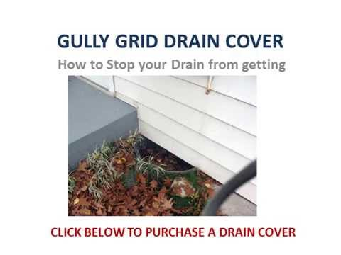Gully Grid Drain Cover How To Stop Leaves Blocking Drains