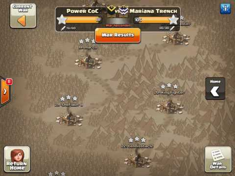 Power CoC vs. Mariana Trench (Random)