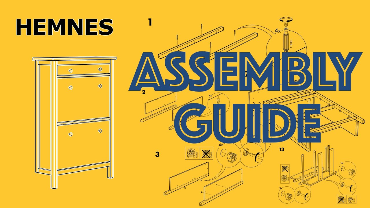 How to Assemble IKEA Hemnes Shoe Cabinet