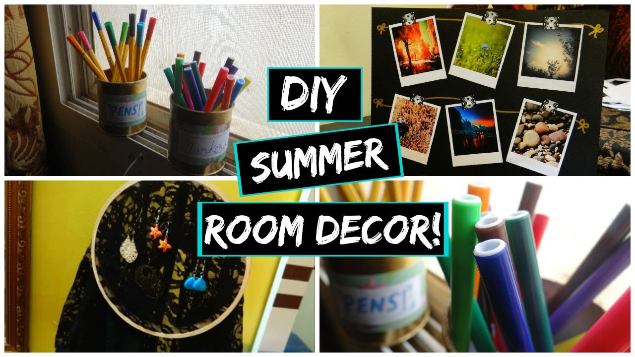 Diy summer room decor and organization easy and cute for Room decor organization