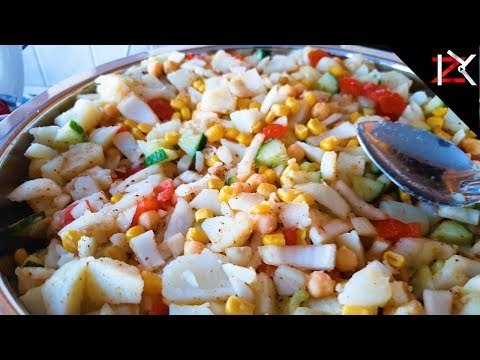 How To Make Homemade CHANA CHAAT | Delicious Healthy Veg Food Snack