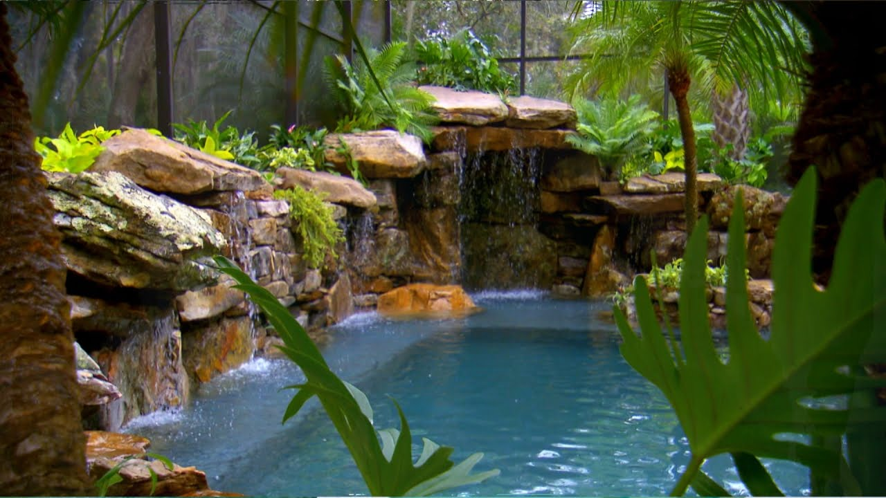 A waterfall wonderland in sarasota doovi for Pool show on animal planet