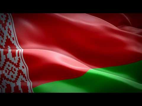 Флаг Республики Беларусь.Футаж