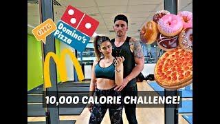 10,000 CALORIE CHALLENGE | EPIC CHEAT DAY | BOYFRIEND VS. GIRLFRIEND thumbnail