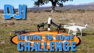 DJI RTH Challenge MAVIC Pro Vs PHANTOM 4 Pro Vs INSPIRE ONE, pruebas y test de vuelo autónomo.