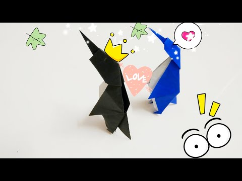 DIY Paper Origami - How to make penguin origami easy 🐧