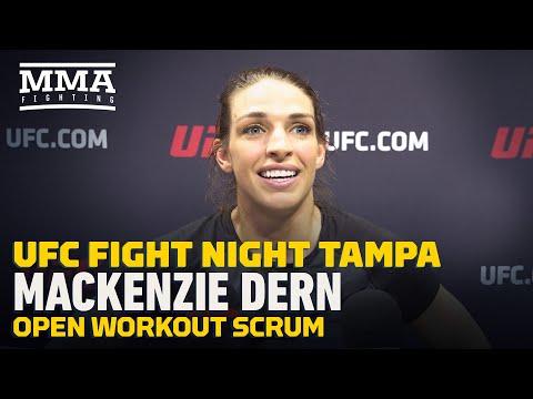 Mackenzie Dern UFC Tampa scrum, open workout highlights