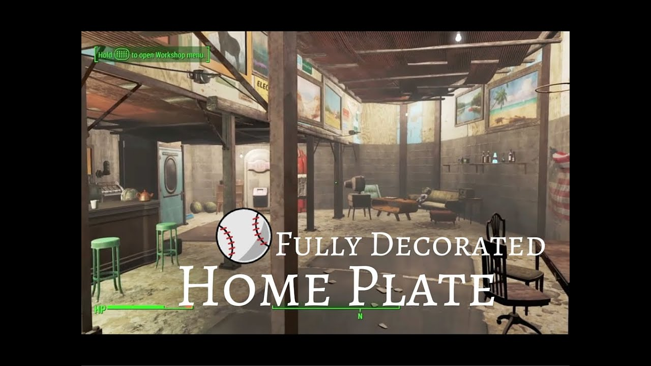 Fully decorated home plate fallout 4 youtube for Fallout 4 bedroom ideas