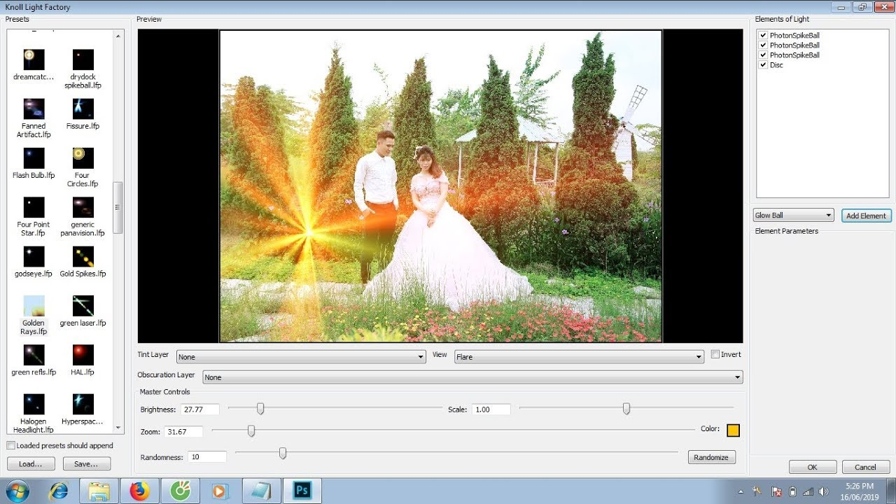 Hướng dẫn cài đặt phần mềm  Knoll Light Factory 3.1 cho photoshop