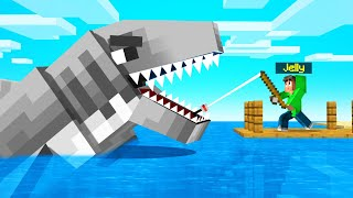 I CAUGHT The MEGALODON SHARK In MINECRAFT!