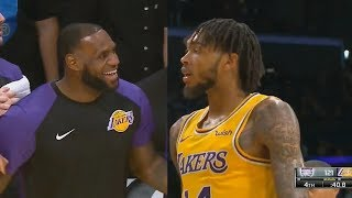 LeBron James CAN'T BELIEVE BRANDON INGRAM'S INBOUND DEFENSE! Lakers vs Kings