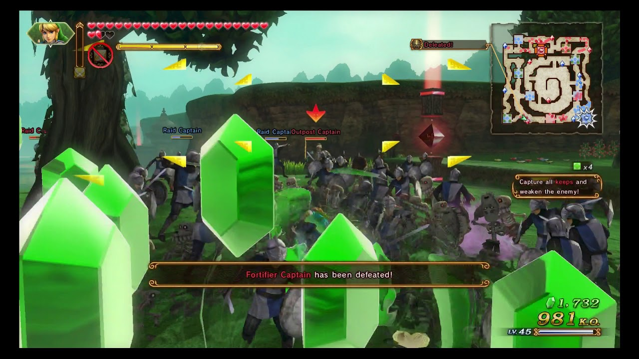 Hyrule Warriors Definitive Edition Adventure Map Square F2 A Rank Youtube