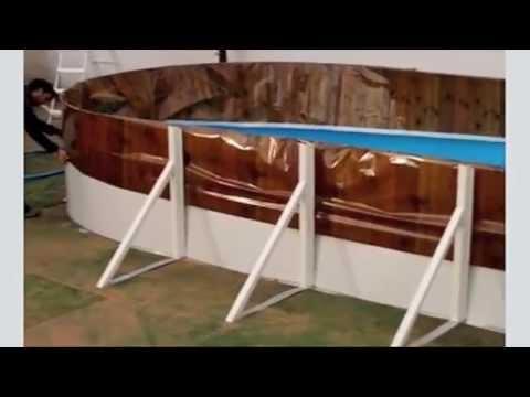 Montaje piscina ovalada toi youtube for Piscinas desmontables toi