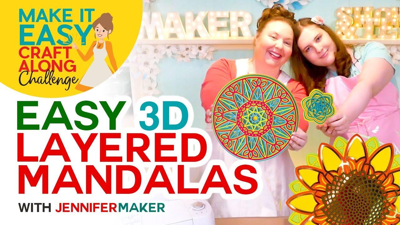 Download 3d Layered Mandalas How To Multilayer Mesmerize Jennifer Maker