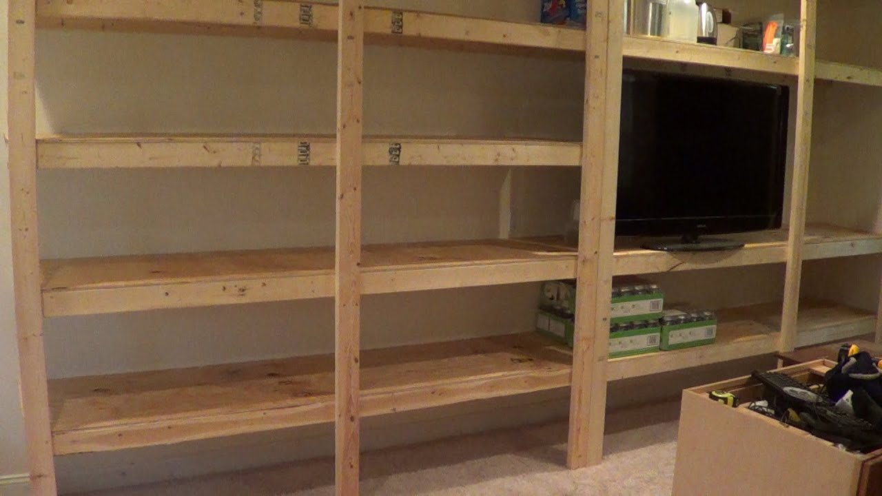 Building Pantry Storage Shelves