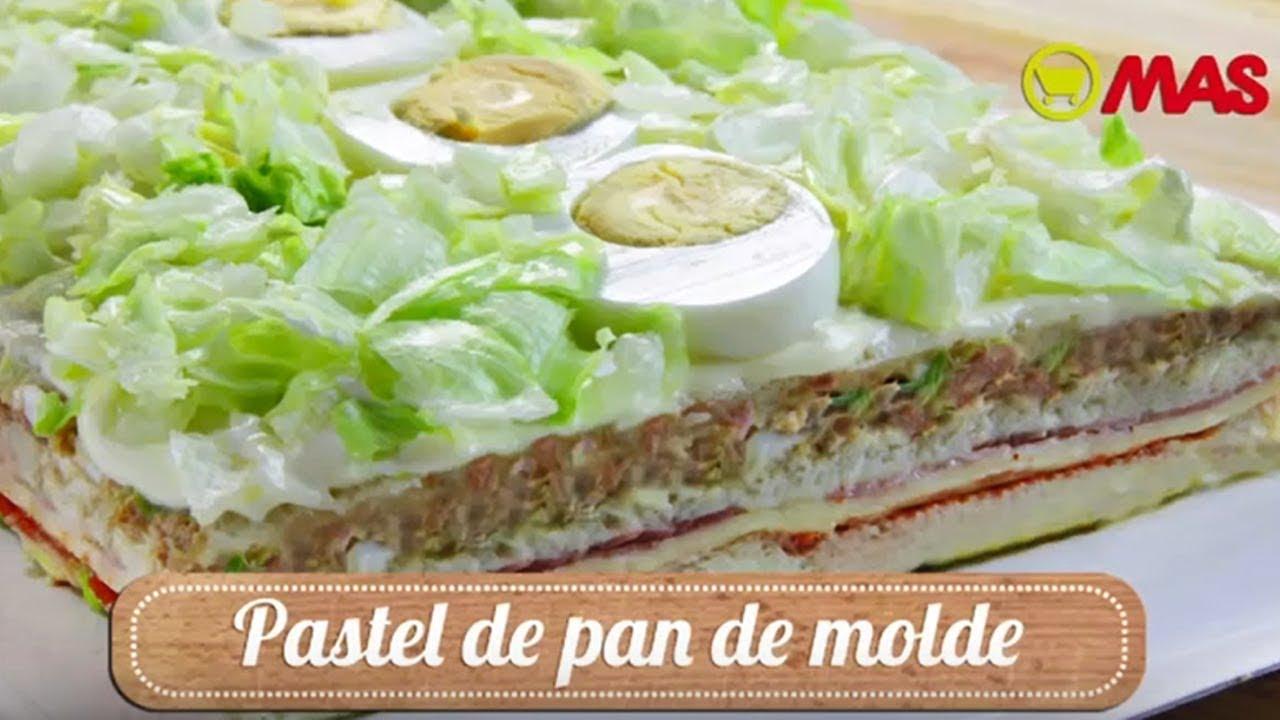 Pastel Vegetal Con Pan De Molde