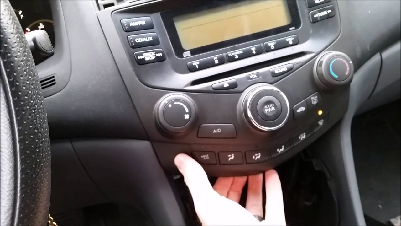 2003 2007 honda accord aftermarket stereo install metra 99 7862 and [ 1280 x 720 Pixel ]