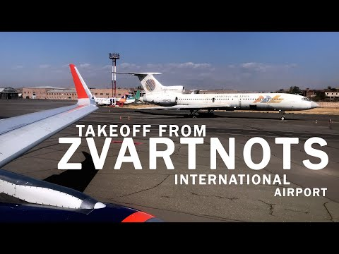 TAKEOFF FROM ZVARTNOTS INT. AIRPORT IATA:EVN, ICAO:UDYZ | AEROFLOT FLIGHT SU1859 AIRBUS A320(VP-BFA)