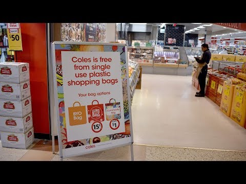 Many Australian customers unhappy about plastic bag ban