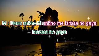 Ankhon hi ankhon mein ishara ho gaya-CID-Full Karaoke Highlighted lyrics