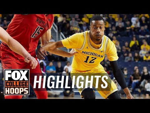 Michigan vs Maryland | Highlights | FOX COLLEGE HOOPS