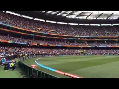Crowd Wave at Melbourne Cricket Ground - India vs South Africa 22 Feb 2015