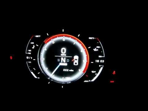 Lexus LFA instrument panel during startup