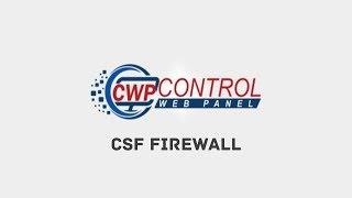 CSF Firewall - CentOS Web Panel
