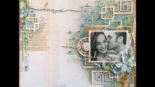Mixed Media Scrapbook Page Tutorial - Love Always