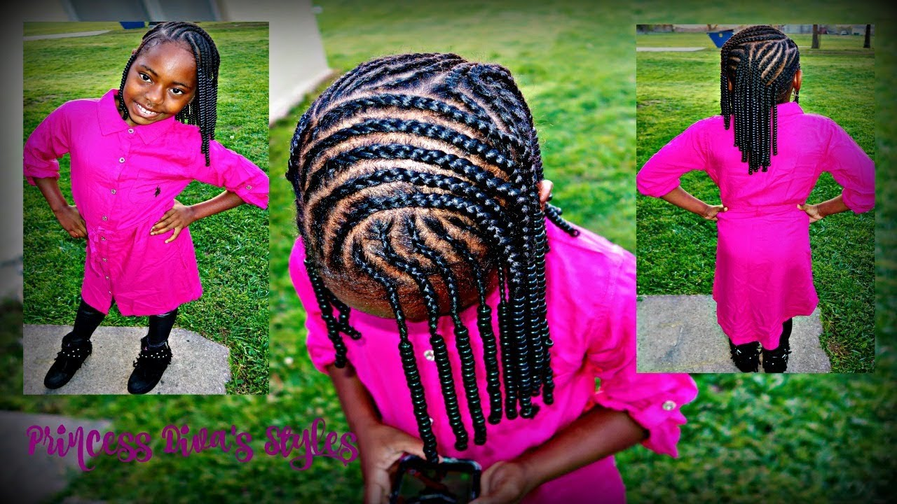 Children S Braided Hairstyle Children S Natural Hair Care Youtube
