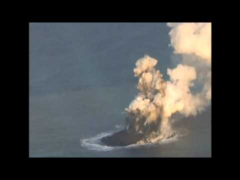 Dramatic Video Shows Volcano Making New Island Off Japan