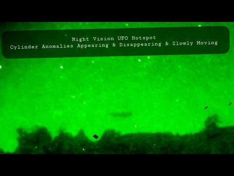 Night Vision, UFO Hotspot, Just Rod Shaped Clouds Appearing, Disappearing & Moving Horizontal,Right?
