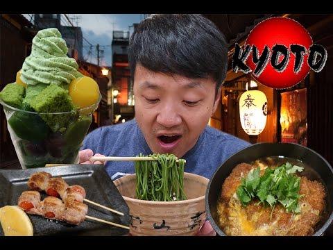 MATCHA(Green Tea) SOBA NOODLES! KYOTO Japan Food Tour