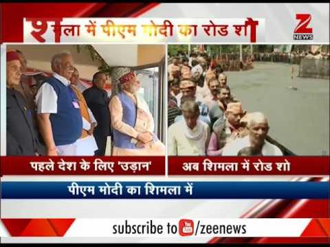 Road Show of PM Modi in Shimla