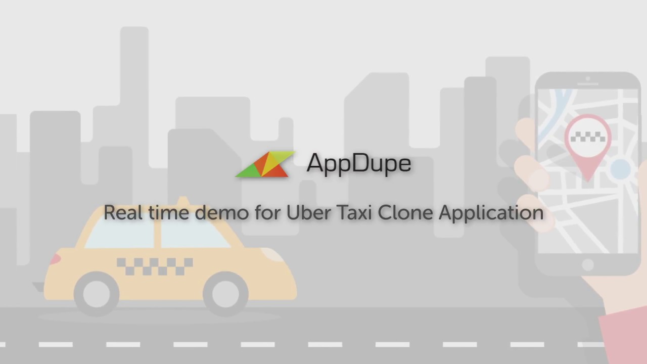 Uber Clone App Demo  Video for Taxi Booking - AppDupe